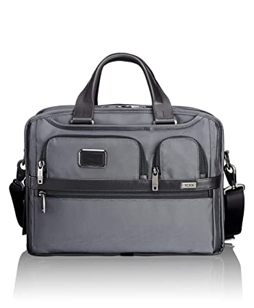 530036175fa7 Amazon.com  TUMI - Alpha 2 Expandable Organizer Laptop Brief Briefcase - 15  Inch Computer Bag for Men and Women - Pewter  iServe