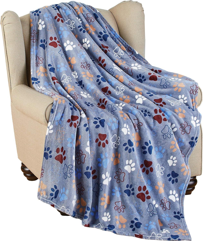 Super Soft Warm Pet Paw Print Blanket Idea for Dog Lovers