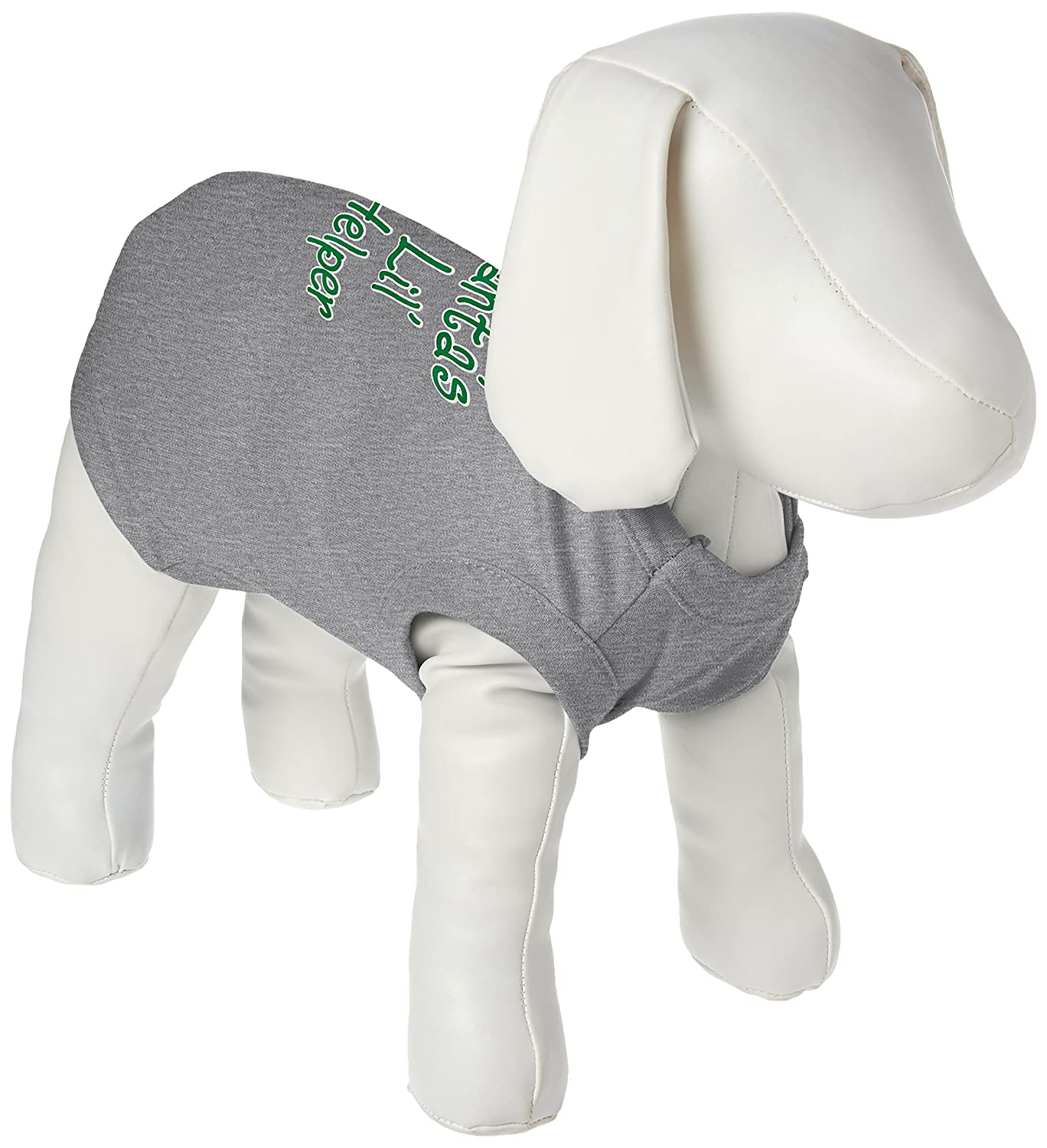 Mirage Pet Products 10-Inch Santa's Lil' Helper Screen Print Shirts for Pets, Small, Grey