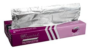 """Crystal by crystalware FPU12102400B Premium Aluminum Foil Pop Up Sheets, 12"""" x 10.75"""", 200 Sheets"""