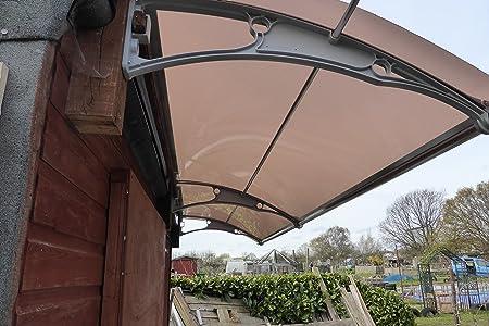 De pared en voladizo para toldo de policarbonato DIY 1000 x 3000 mm/delantera y trasera toldo de caseta de jardín de toldo: Amazon.es: Bricolaje y herramientas