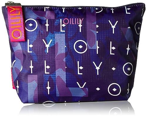 Oilily - Ruffles Cosmeticpouch Mhz 1, Carteras de mano Mujer, Blau (Dark Blue