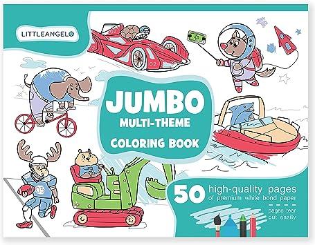 Amazon.com: Jumbo - Cuaderno de colorear para niños de 4 a 8 ...