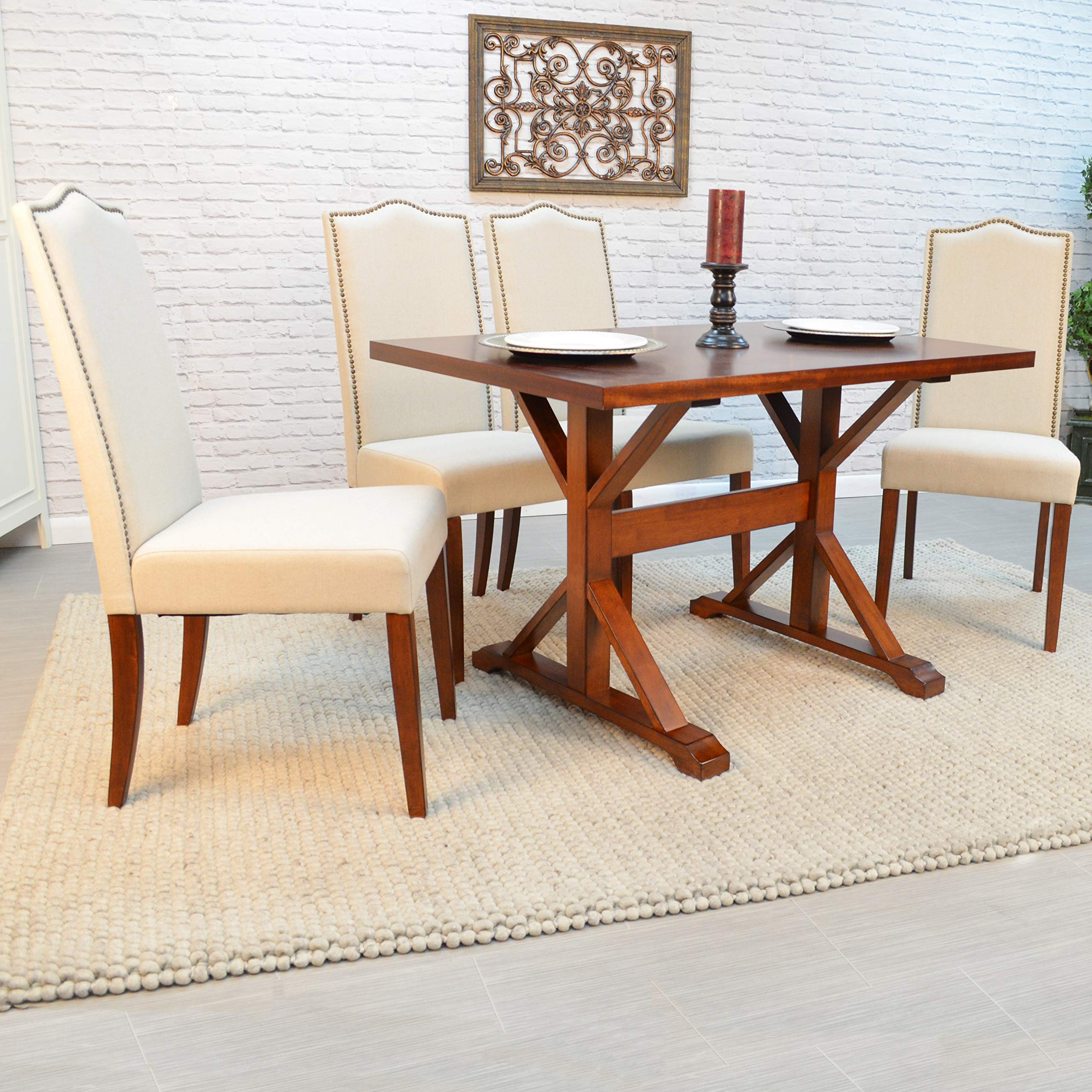 Carolina Chair and Table Romero Parson Chair in Chestnut