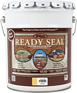 Ready Seal 510 Exterior Stain and Sealer for Wood, 5-Gallon, Golden Pine