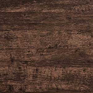 """Wood Wallpaper Brown Wood Contact Paper Brown Wood Plank Wood Peel and Stick Wallpaper Removable Rustic Wood Grain Self Adhesive Vintage Distressed Texture Film Desk Cabinet Vinyl Roll 17.7""""x78.7''"""