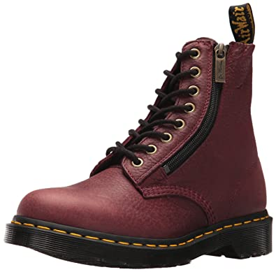 f3a97686db415 Dr.Martens Womens 1460 Pascal W Zip Grizzly Leather Boots  Amazon.co ...