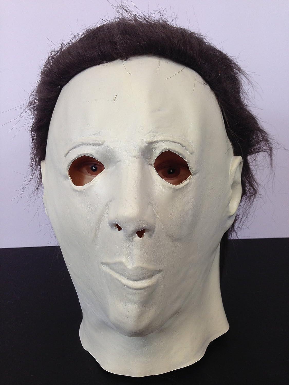 infantil Michael Myers Halloween Terror Máscara Completo de látex Película calidad con pelo: Amazon.es: Juguetes y juegos