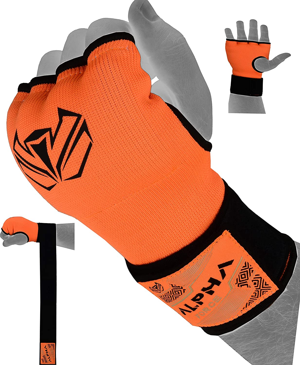 ALPHA FORCE Hand Wraps Inner Boxing Gloves Gel Mitts MMA Martial Arts MMA Fist Protector Bandages Mitts