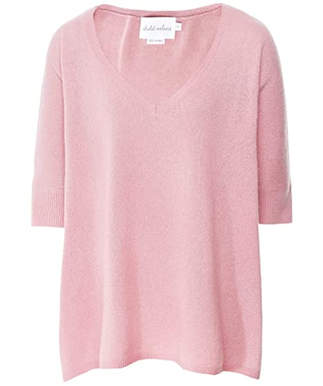 e86a5978972e33 Absolut Cashmere Women's Cashmere V-Neck Batwing Sleeve Jumper Pink: Amazon. co.uk: Clothing