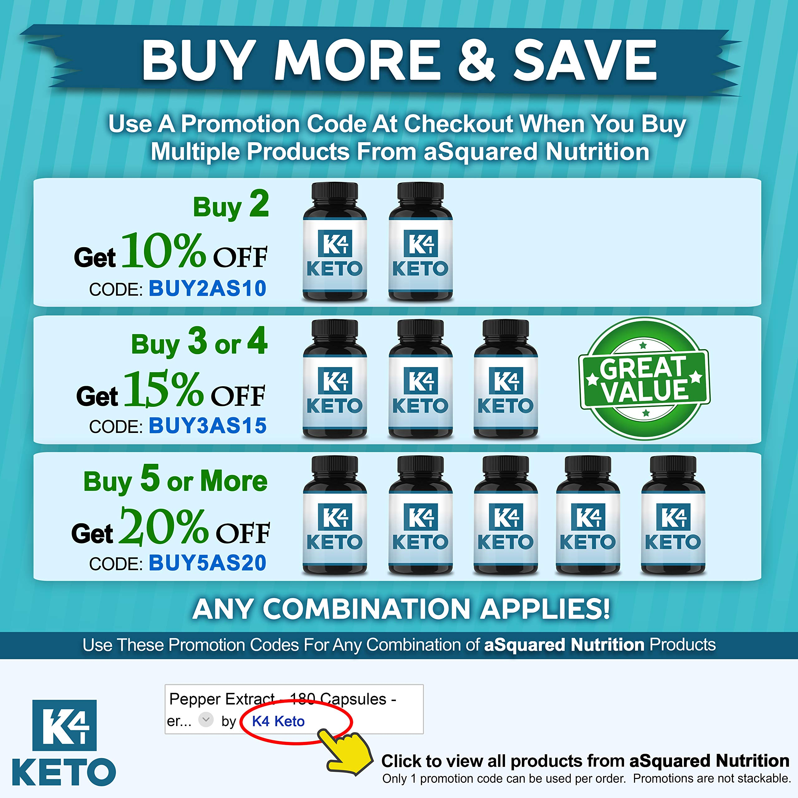 K4 Keto BHB - Exogenous Ketones BHB Salts Capsules - 2000mg of Patented goBHB Beta-Hydroxybutyrate - Ketone Supplement Pills to Support Ketogenic Diet & Ketosis by K4 Keto (Image #7)