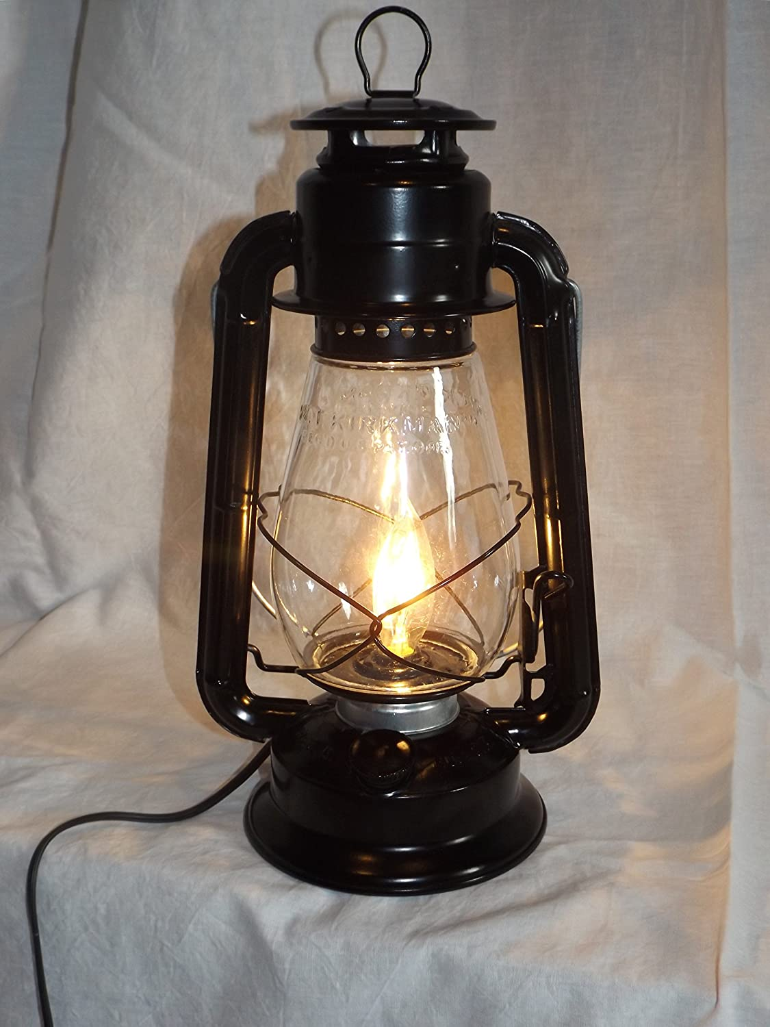 Dietz junior vintage style electric lantern table lamp black dietz junior vintage style electric lantern table lamp black amazon arubaitofo Images