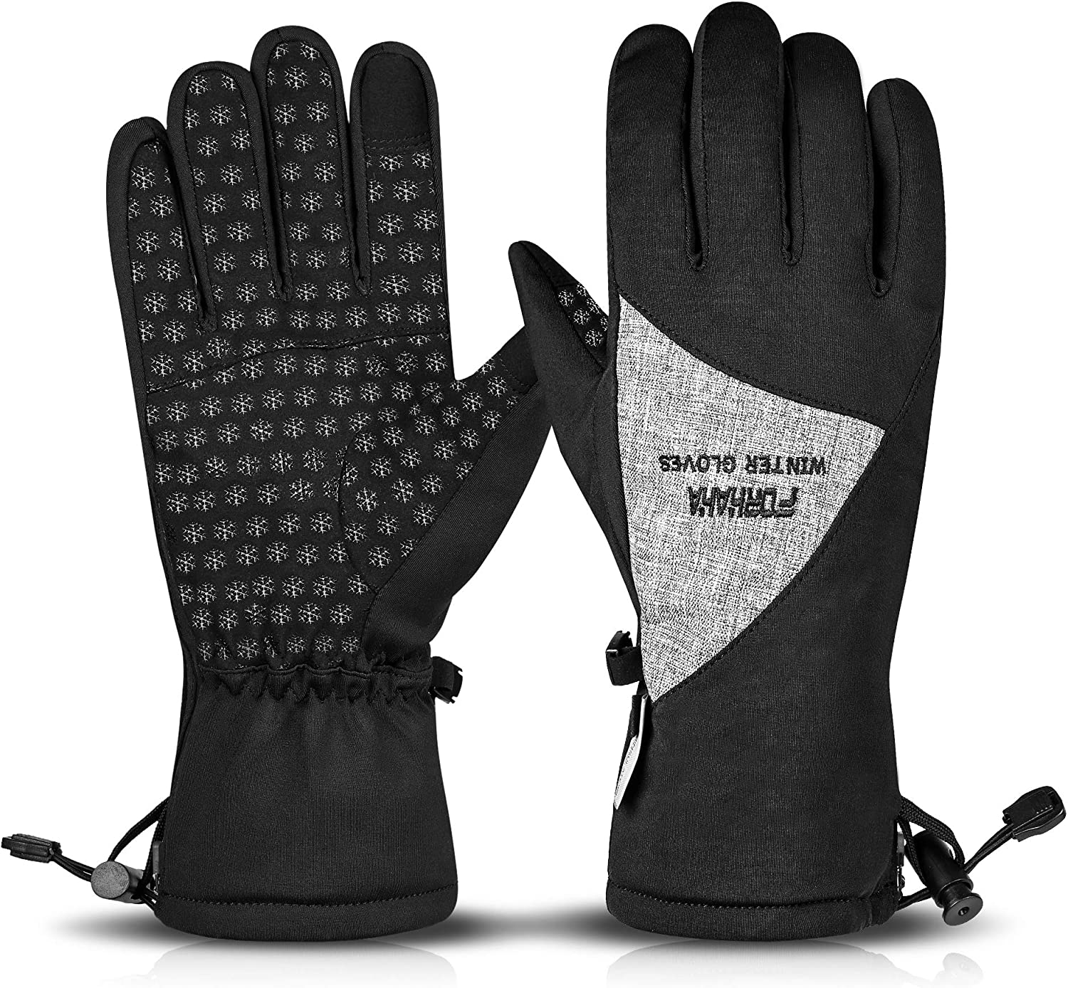 Forhaha Winter Gloves, Touchscreen Thermal Gloves Waterproof for Men and Women