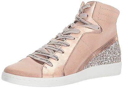 Dolce Vita Women's Natty Sneaker, Blush Suede, 6 Medium US