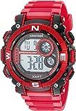 Armitron Sport Men's 54mm Digital Chronograph Matte Red Resin Strap Watch