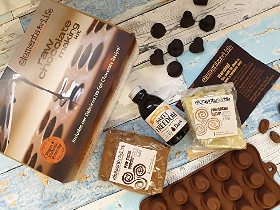 Raw Chocolate Making Starter Kit All You Need To Make Vegan Chocolate Inc Silicone Mould