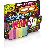 Crayola 3-D Neon Washable Sidewalk Chalk