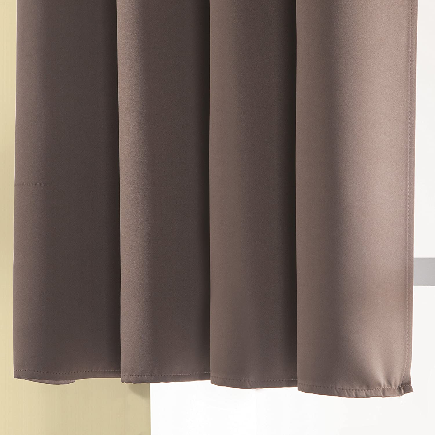 Aquazolax Blackout Curtain Panels For Bedroom Thermal Insulated Grommet Top  Blackout Draperies And Drapes For Kitchen ...