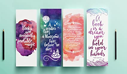 Bookmark Quotes | Motivational Quotes Bookmarks Set Of 4 Perfect Gift For Someone