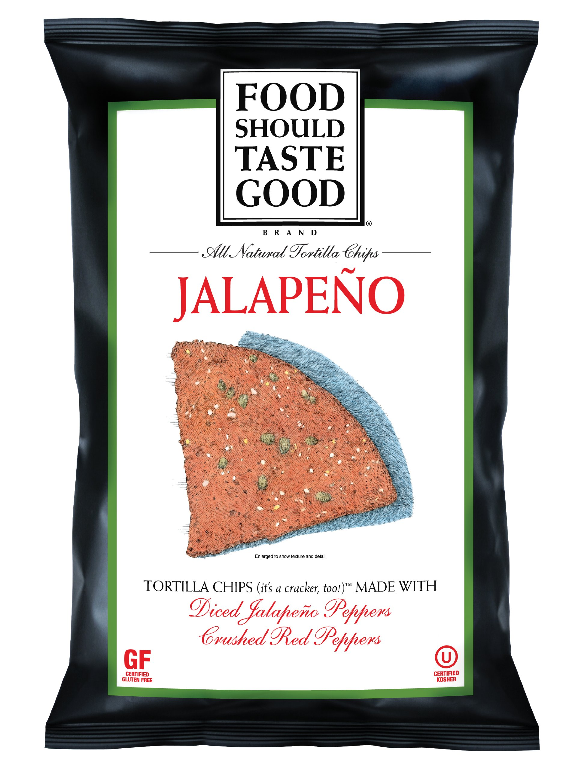 Food Should Taste Good Tortilla Chips, Jalapeno, 5.5 Ounce