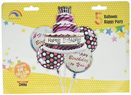 Image Unavailable Not Available For Color Party Balloons Foil Cake Shape Happy Birthday