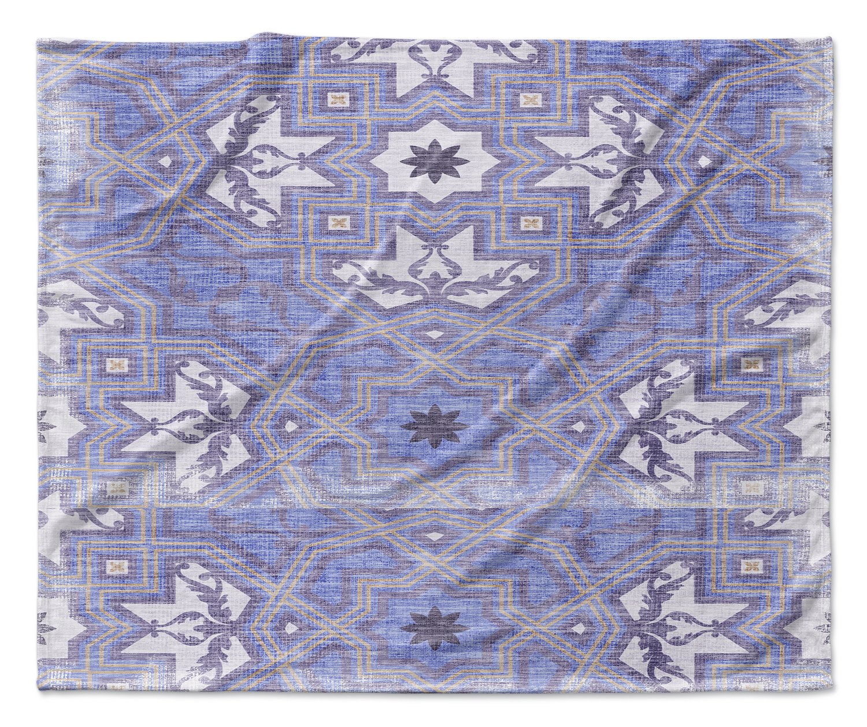 - NAVAJO Collection Purple Size: 80x60x1 - KAVKA Designs Cosmic Dream Fleece Blanket, MGTAVC2023VPL