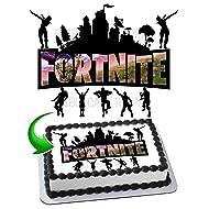 Fortnite Battle Royale Edible Cake Image Cake Topper Icing Sugar Paper A4 Sheet Edible Frosting Photo 1/4 Sheet Cake