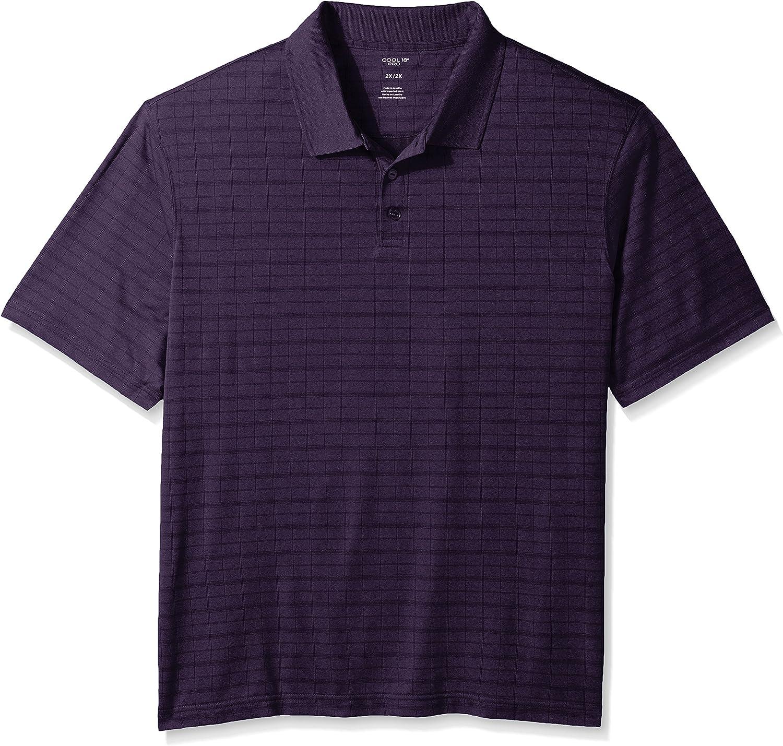 Haggar Mens Big and Tall Big/&Tall Short Sleeve Printed Knit Polo