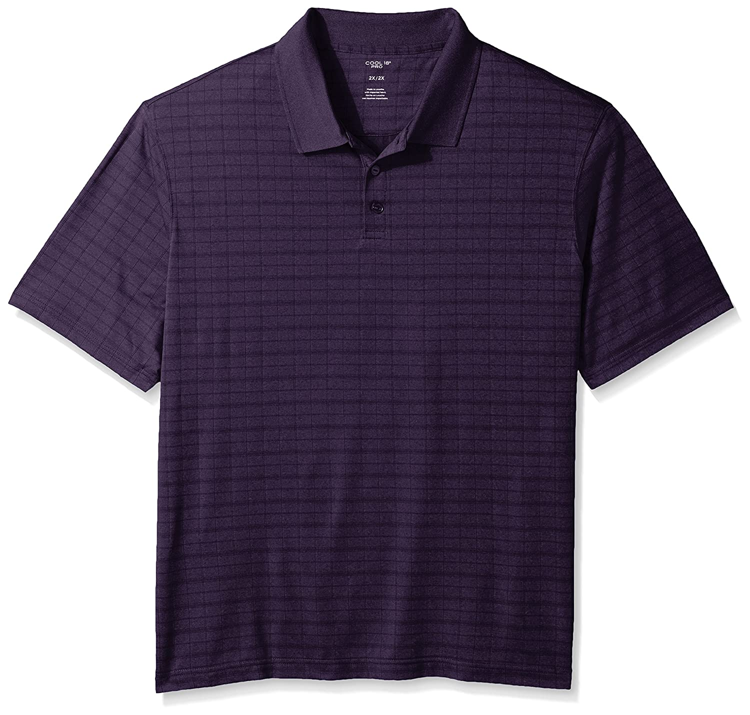 Haggar Mens Big and Tall Big/&Tall Short Sleeve Marled Knit Polo