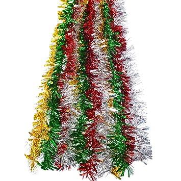 Kentop Weihnachtsgirlande Weihnachtsbaum Lametta Stern Girlande