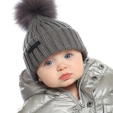 amazon com aka co baby boys girls toddler grey winter knit beanie