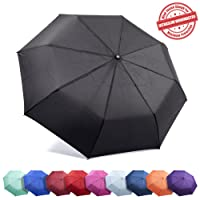 Kolumbo Unbreakable Travel Umbrella Wind Tested 55MPH, BEWARE of Knockoffs, Innovative & Patent Pending, Auto Open Close, Won't Break If Inverted, Durability Tested 5000 Times