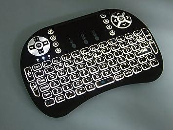Nuevo teclado retroiluminado I8 + 2.4 GHz inalámbrico inglés retroiluminación teclado con Touchpad para Mini PC, smart tv, Android TV Box, PC: Amazon.es: Electrónica