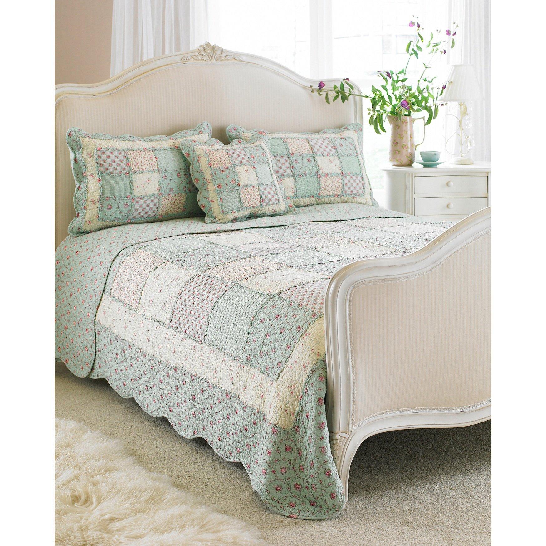 Riva Home Avignon Bedspread (Full) (Duck Egg)