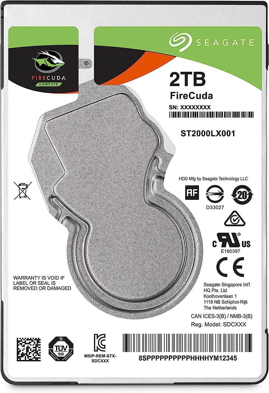 Seagate Internal Hard Drive 2Tb Sshd Solid State Drive St2000Lx0015 2.5-In Sata