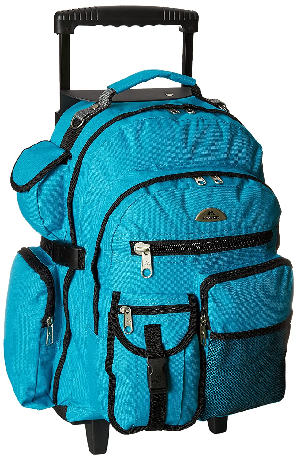 Turquoise Everest Deluxe Wheeled Backpack, Burgundy, One Size