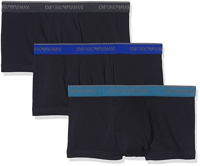 Emporio Armani Underwear 1113577A717, Bóxer para Hombre, Azul (marine 40035), Small