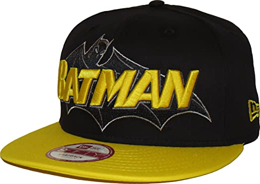 Gorra New Era - 9Fifty Hero Word Batman Negro/Amarillo M/L: Amazon ...