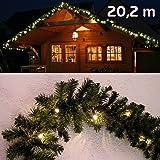 Abete ghirlanda illuminata lunghezza 2000 centimetri con 300 LED