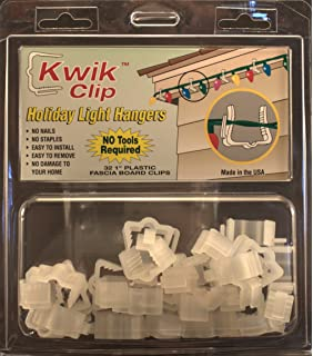 kwik clip holiday christmas light hangers 1 fascia boards clip made in the usa - Christmas Lights Hangers