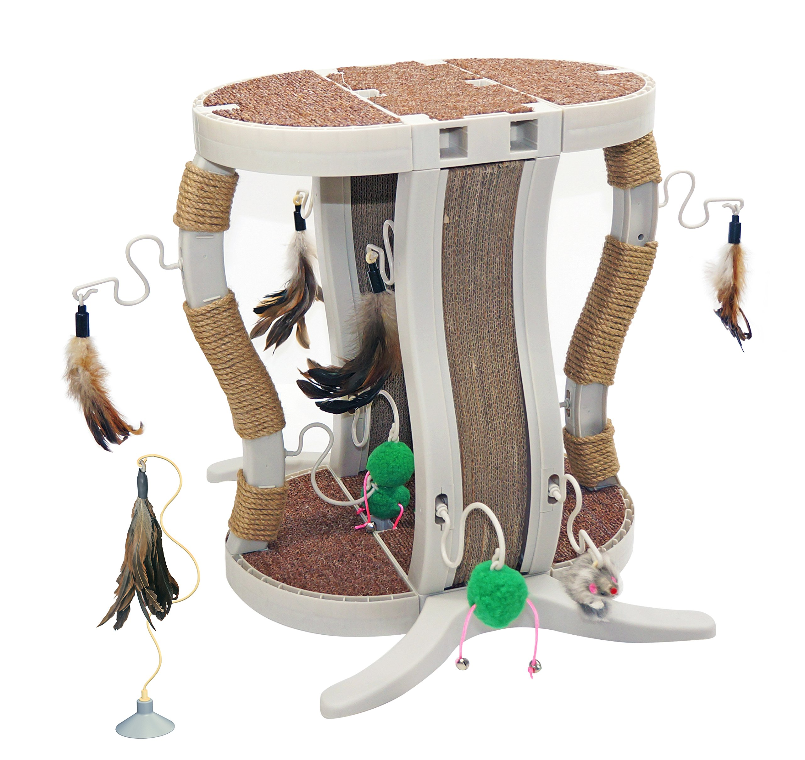 Innovation Pet Kitty Connection Curved Rope Scratcher Set
