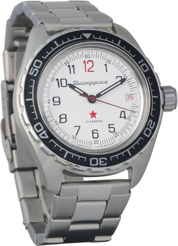 Vostok Komandirskie #020712 200 WR - Reloj de Pulsera mecánico automático para Hombre