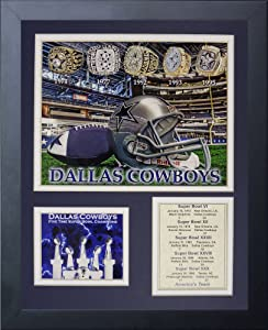 Legends Never Die Dallas Cowboys Super Bowl Rings Framed Photo Collage, 11x14-Inch