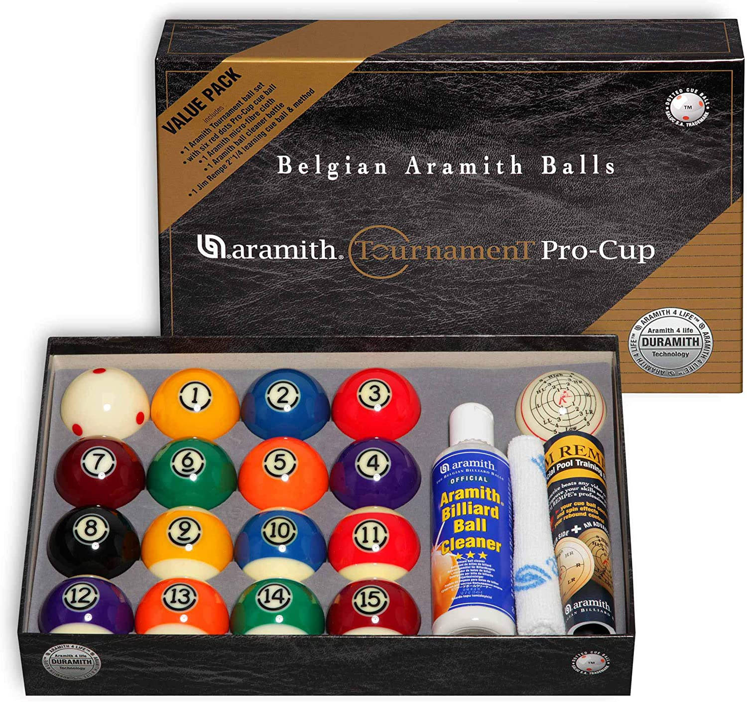 FREE SHIPPING Great Price NEW ARAMITH JIM REMPE TRAINING CUE BALL
