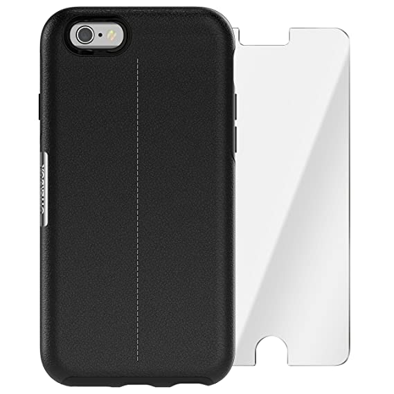 hot sale online f4d3e f8a9b OtterBox Strada Series Limited Edition + Alpha Glass Case for iPhone 6/6s  (ONLY) - Retail Packaging - Onyx (Black/Black Leather)