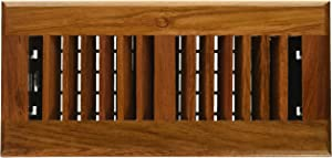 Decor Grates WLC410-N 4-Inch by 10-Inch Wood Floor Register, Solid Cherry Natural