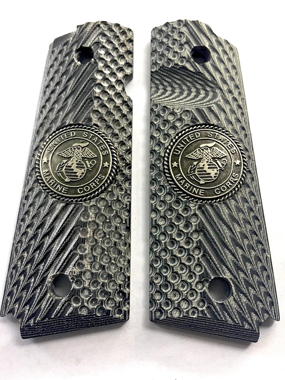 1911 Grips Full Size G-10 Micarta MARINES fits Kimber Colt Remington Sig Ruger Taurus