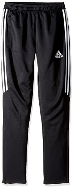 adidas Youth Soccer Tiro 17 Pants, Medium - Black/White/White