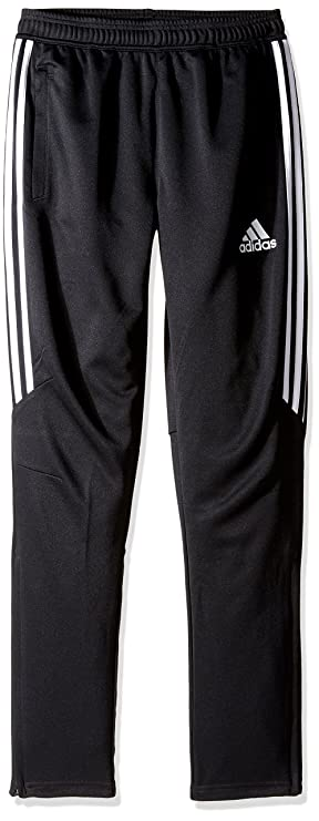 adidas Youth Soccer Tiro 17 Pants, X-Large - Black/White/White