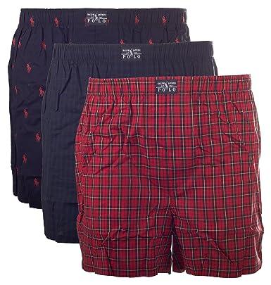 POLO RALPH LAUREN - Lot de 3 shorts pour hommes, Short de boxe Web ... 4139496001c4